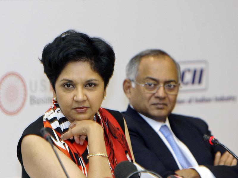 Indra Nooyi and Venu Srinivasan