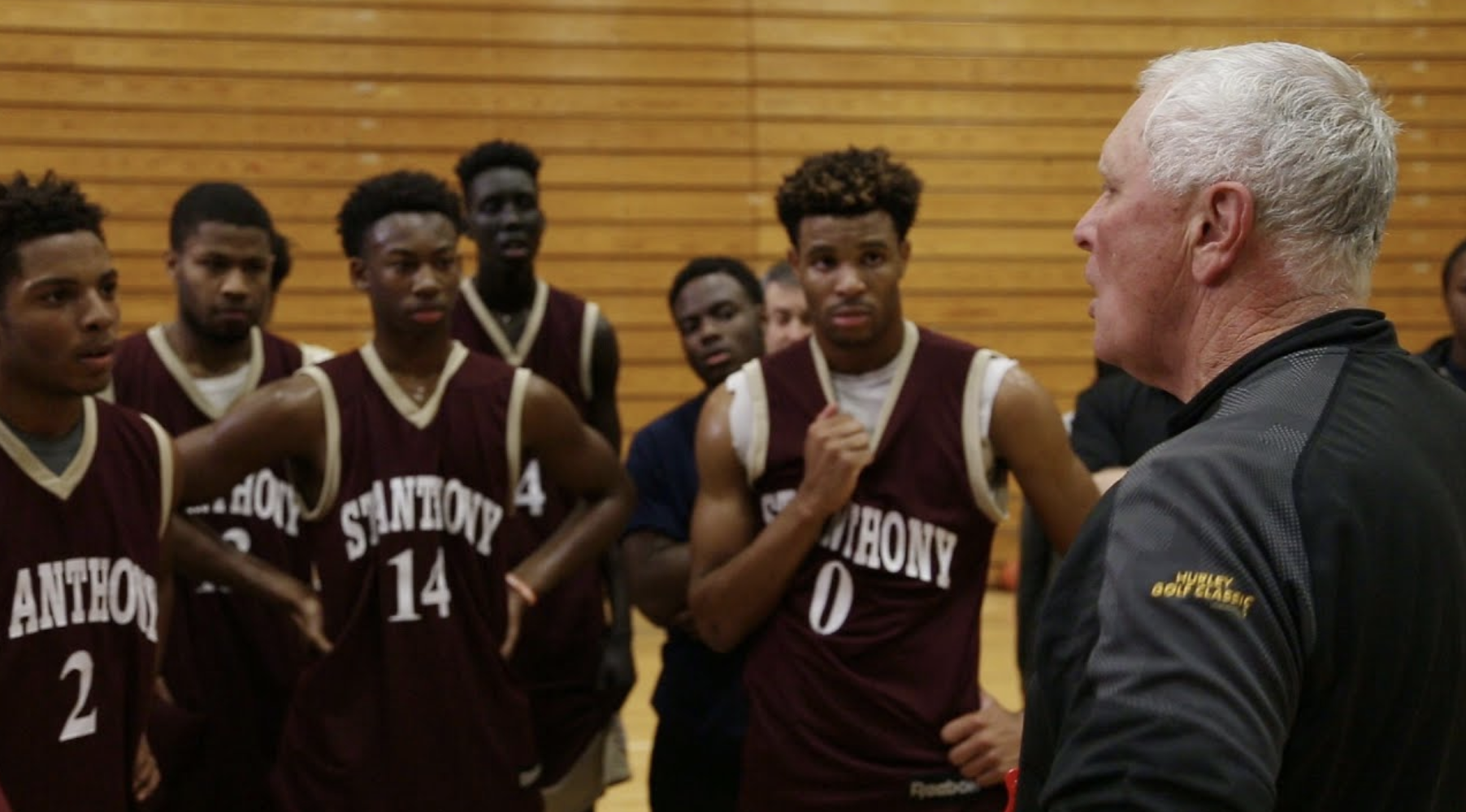 Bob Hurley and St. Anthony team