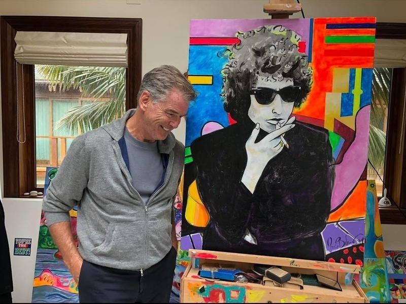 Pierce Brosnan's $1.4 million painting