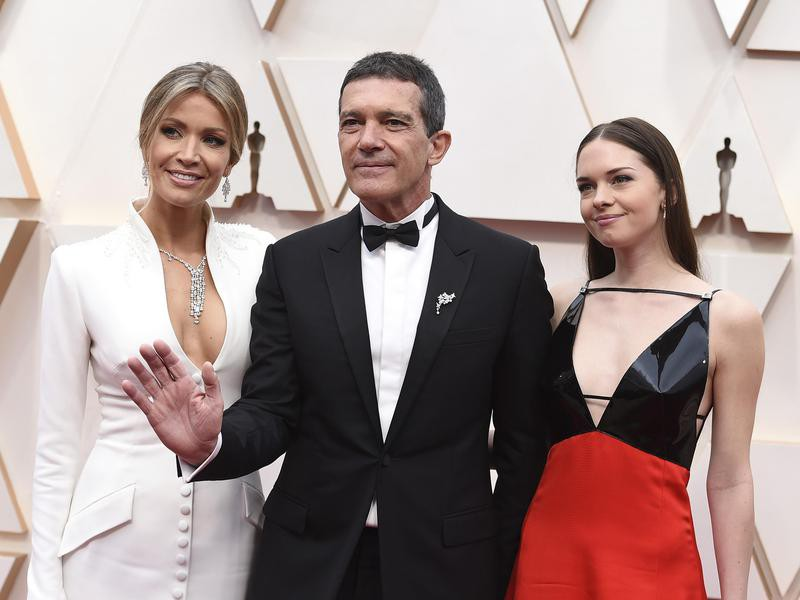 Nicole Kimpel, Antonio Banderas, and Stella Banderas