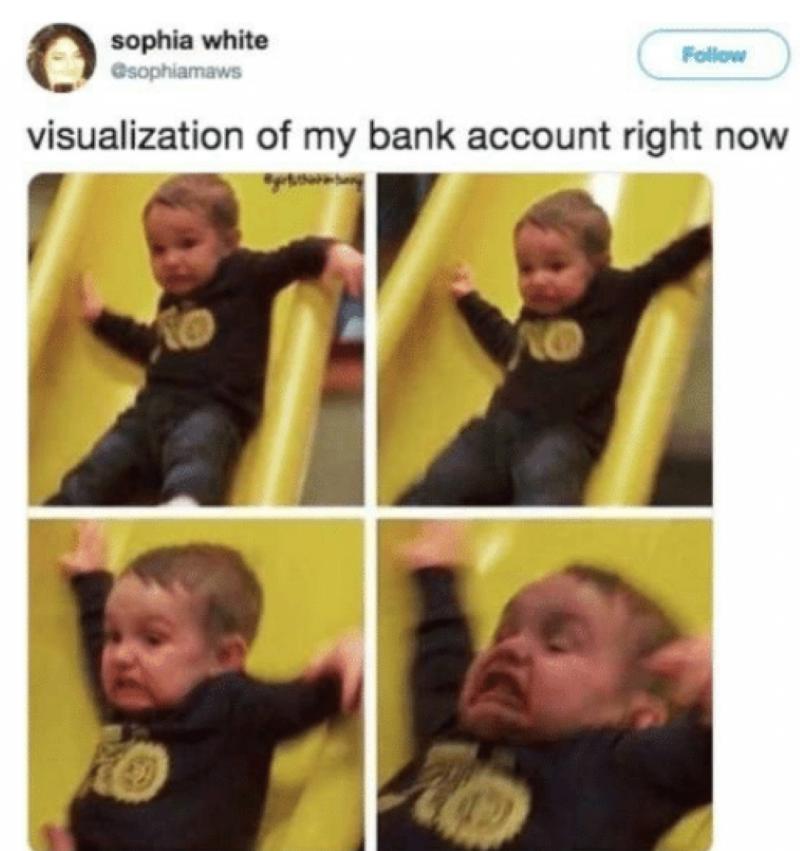Bank account visualization