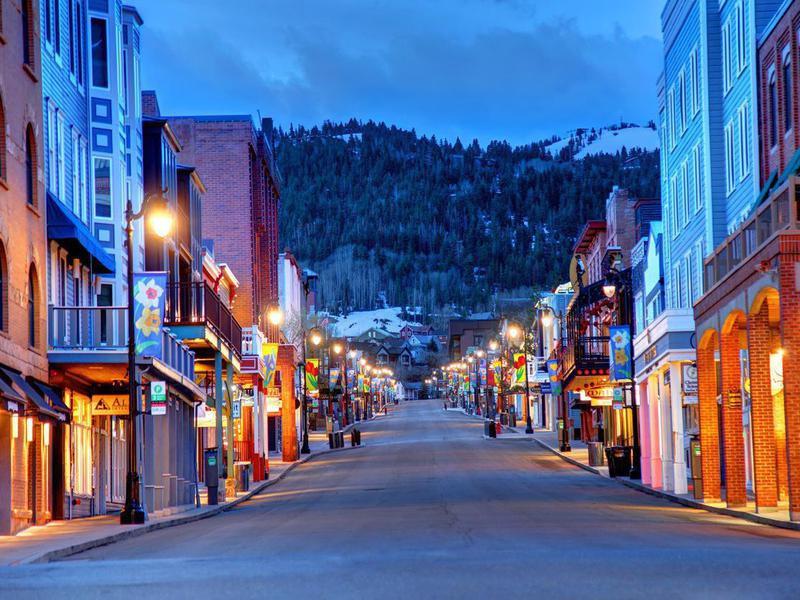 Park City, Utah at night