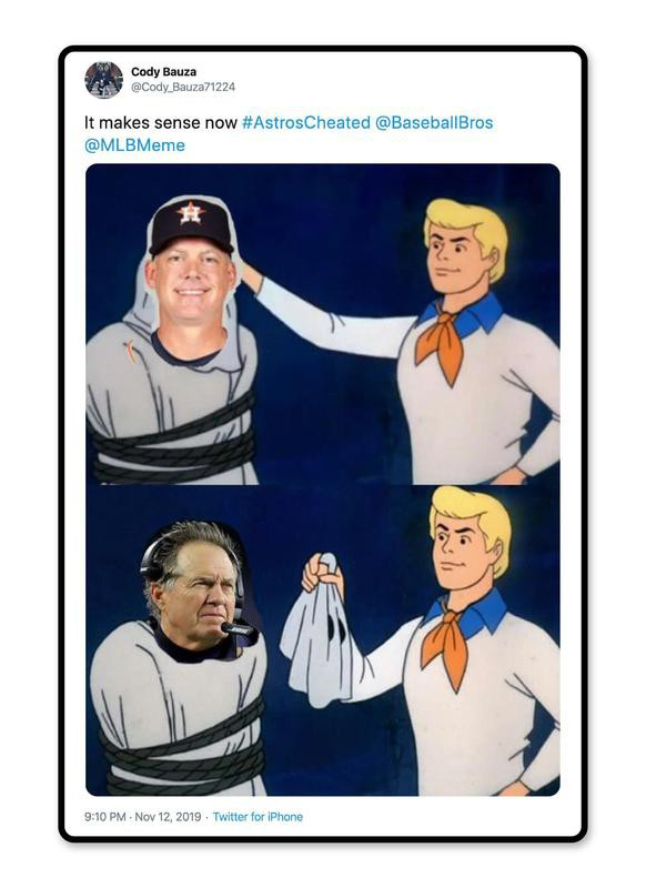 Scooby Doo, Bill Belichick and A.J. Hinch