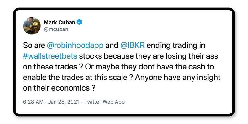 Mark Cuban on Robinhood