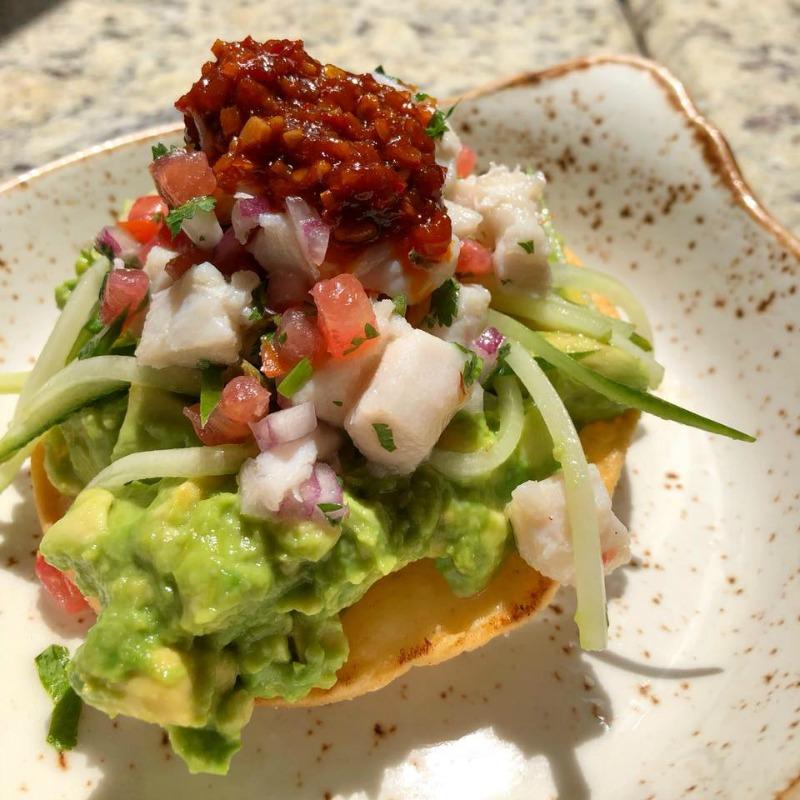 Ceviche and avocado tostada at Jaguar Latin-American Kitchen