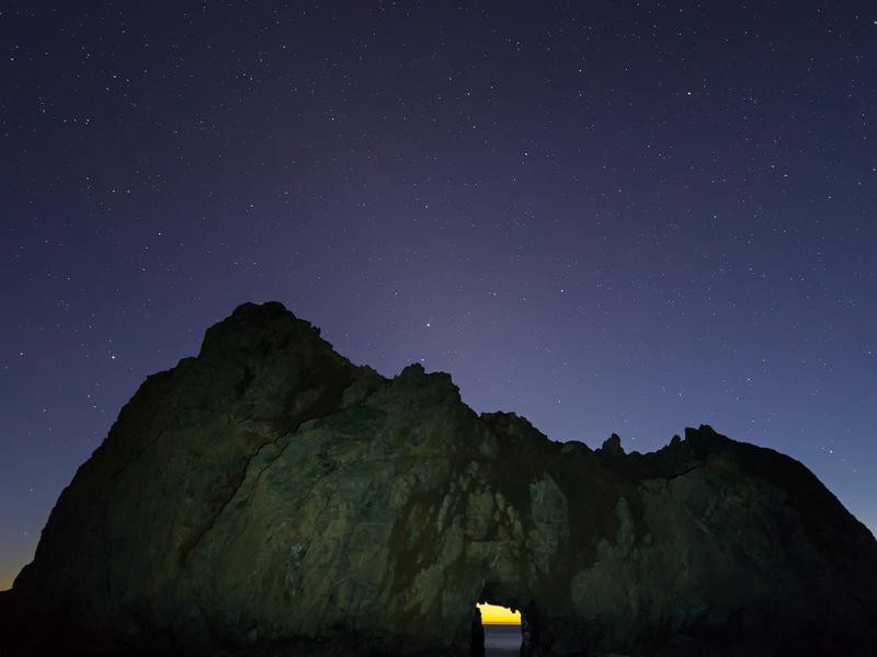 starry sky at Big Sur