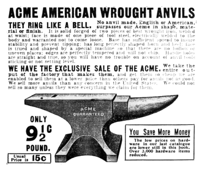 ACME anvil