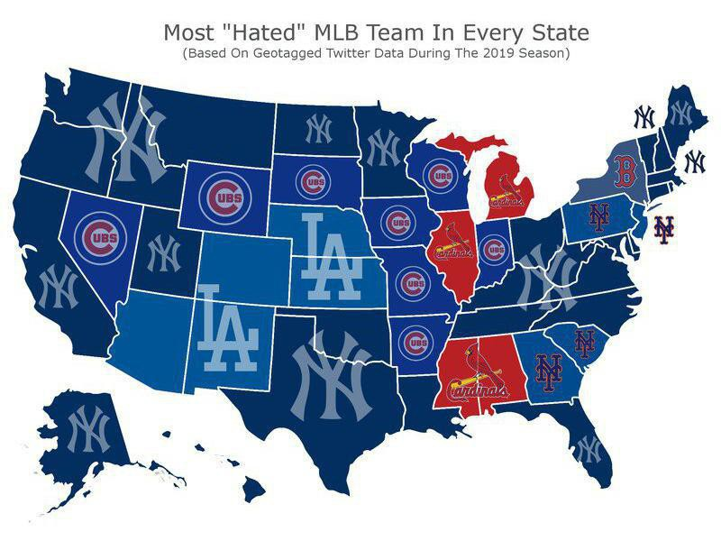 Baseball hate map