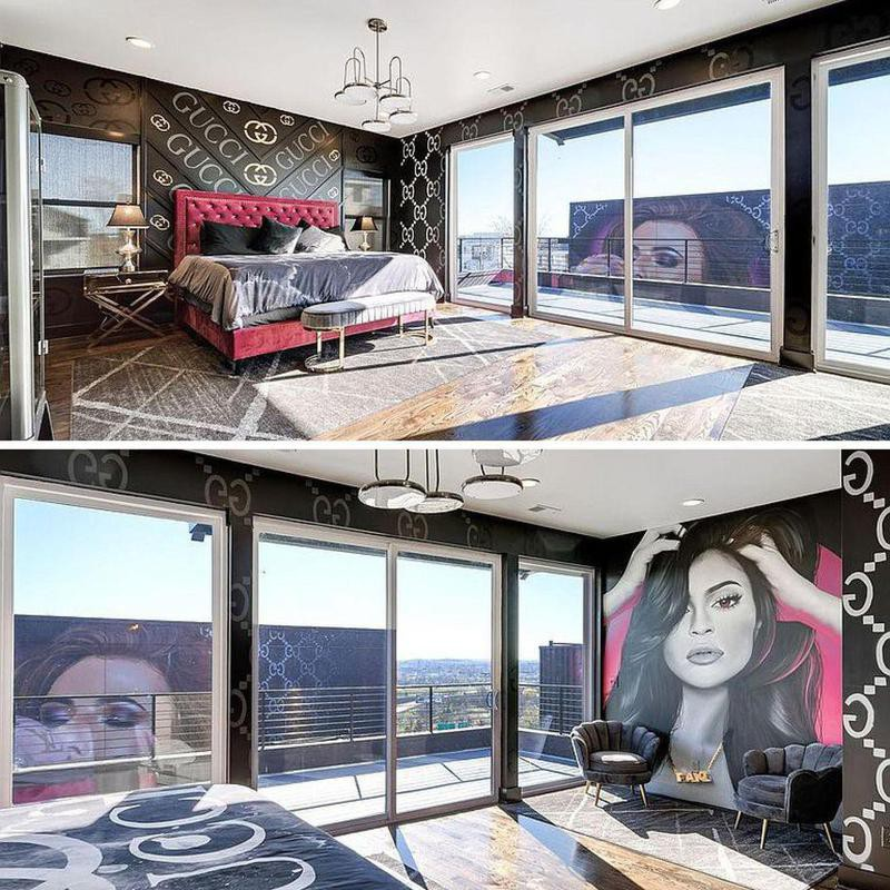 Room with Kylie Jenner painting