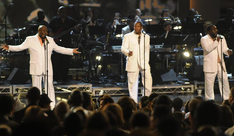 """The O'Jays perform at the BET Awards in 2009, in Los Angeles. Their top-10 hit """"For the Love of Money"""" was inspired by a bible verse."""