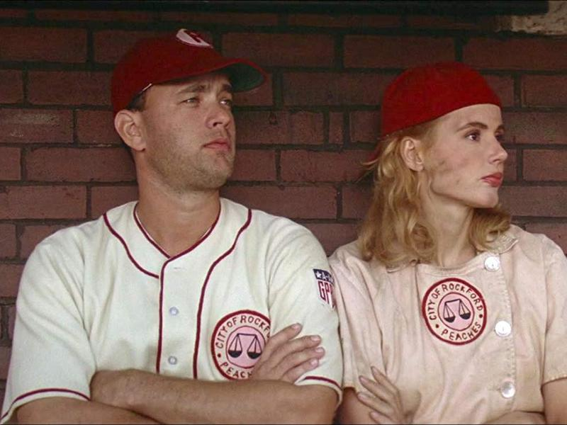 Geena Davis and Tom Hanks in A League of Their Own
