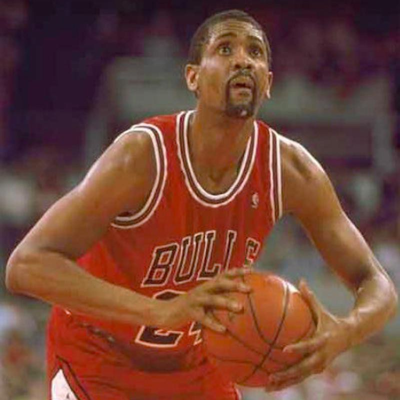Bill Cartwright goes for free throw