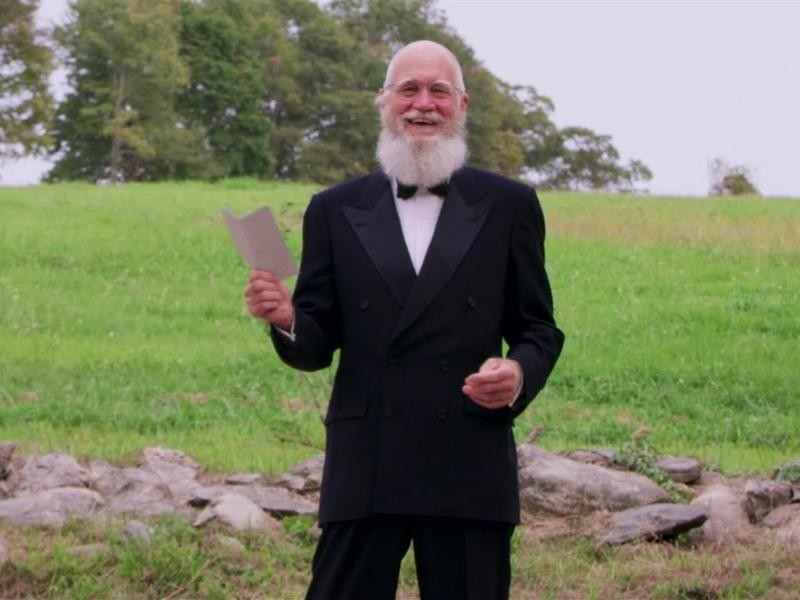 David Letterman at the 2020 Emmys