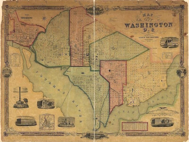 1851 Map of District of Columbia