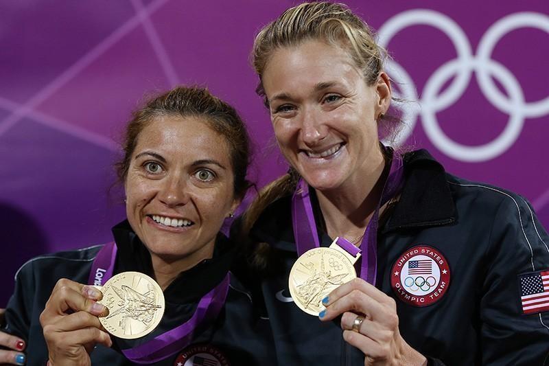 Misty May-Treanor and Kerri Walsh at the 2012 Olympics