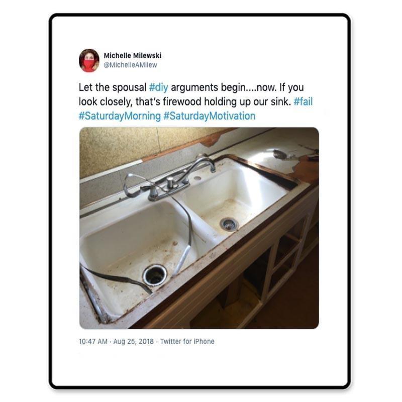 Sink repair fail