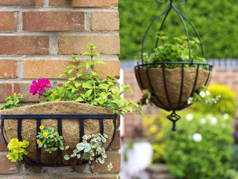 Use Hanging Baskets and Pots