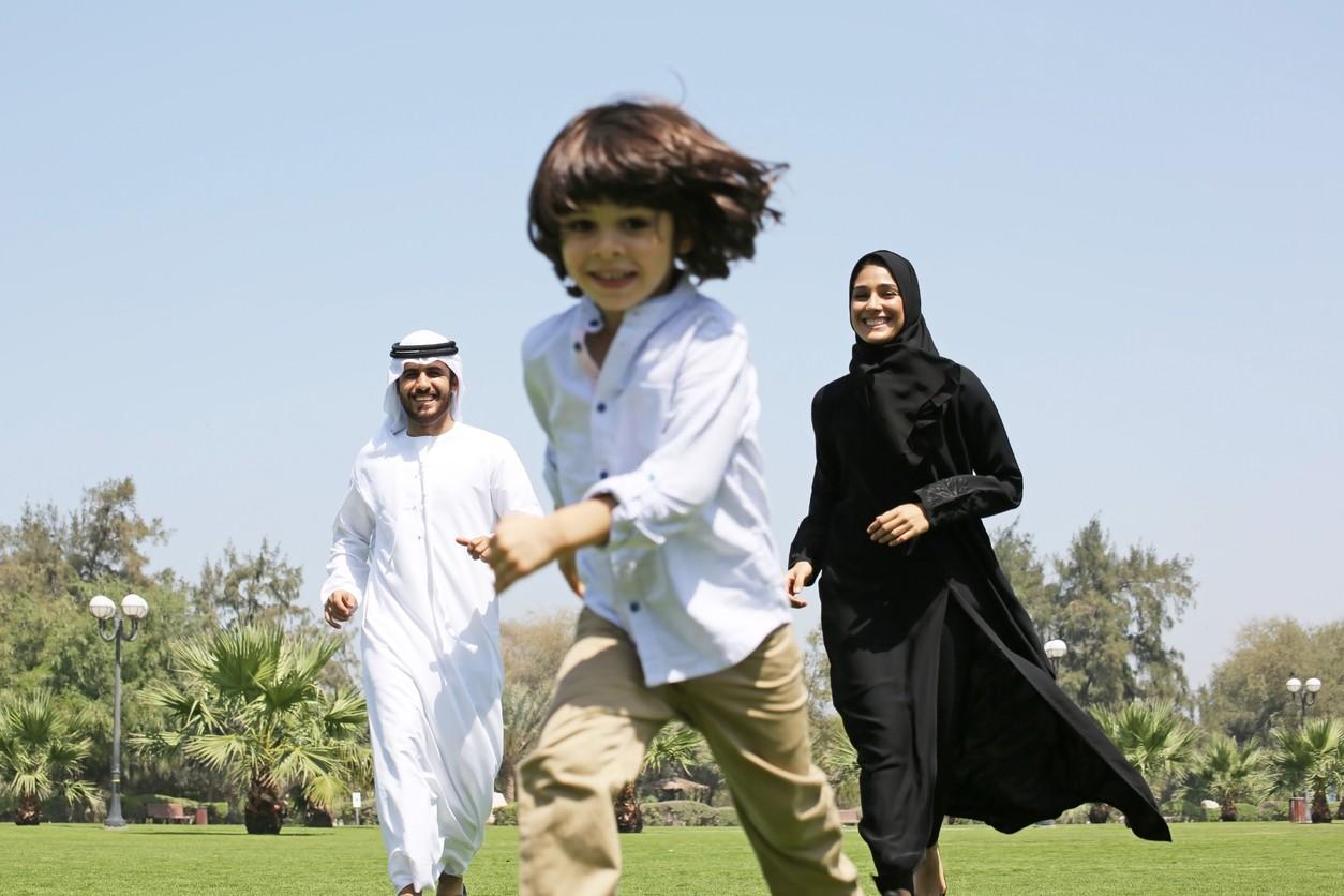 Family in Saudi Arabia