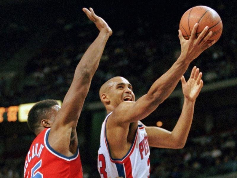 Detroit Pistons forward Grant Hill