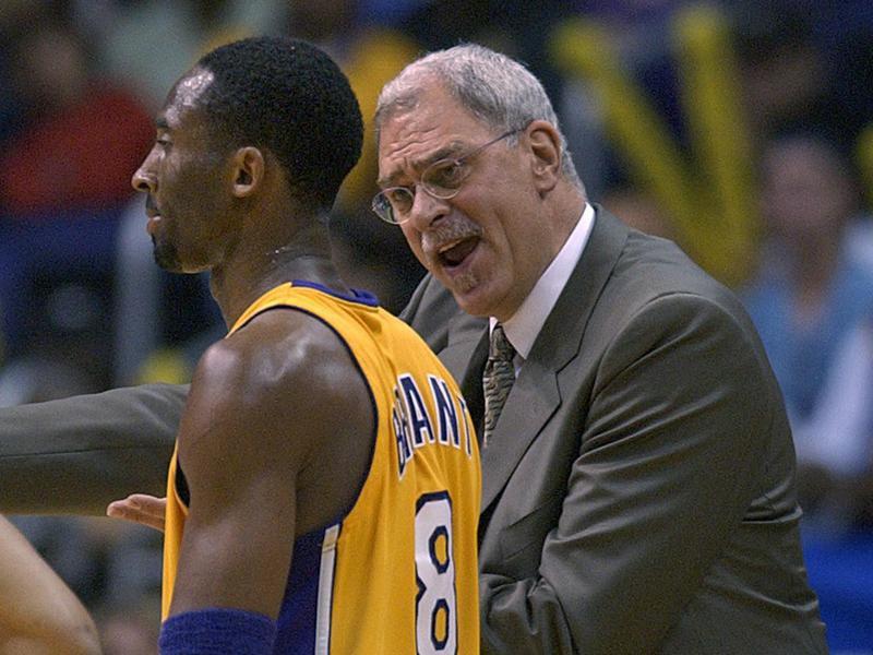 Kobe Bryant and Phil Jackson