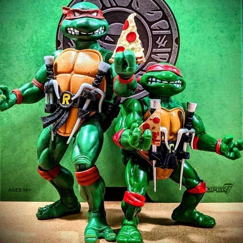 Teenage Mutant Ninja Turtles with pizza slice