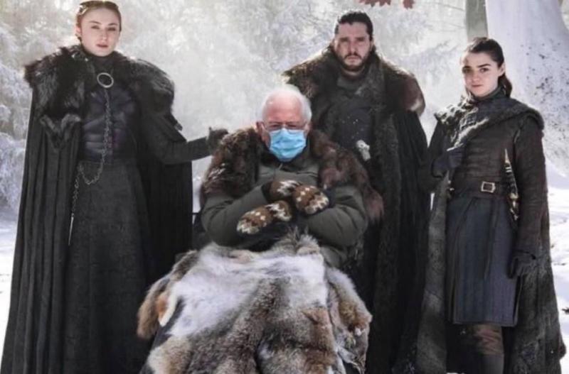 Bernie Sanders with Game of Thrones cast