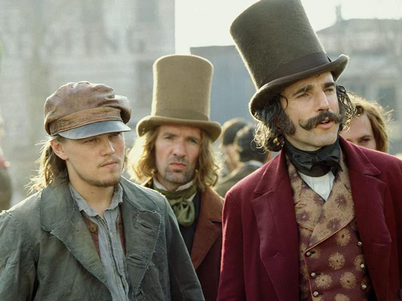 Leonardo Dicaprio and Daniel Day-Lewis in Gangs of New York