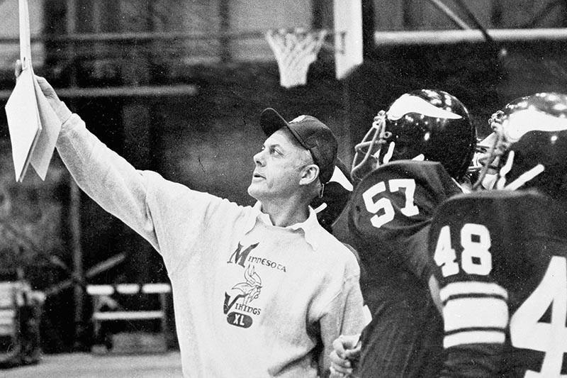 Minnesota Vikings coach Bud Grant