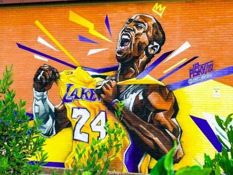 Kobe Bryant mural in Rome, Italy