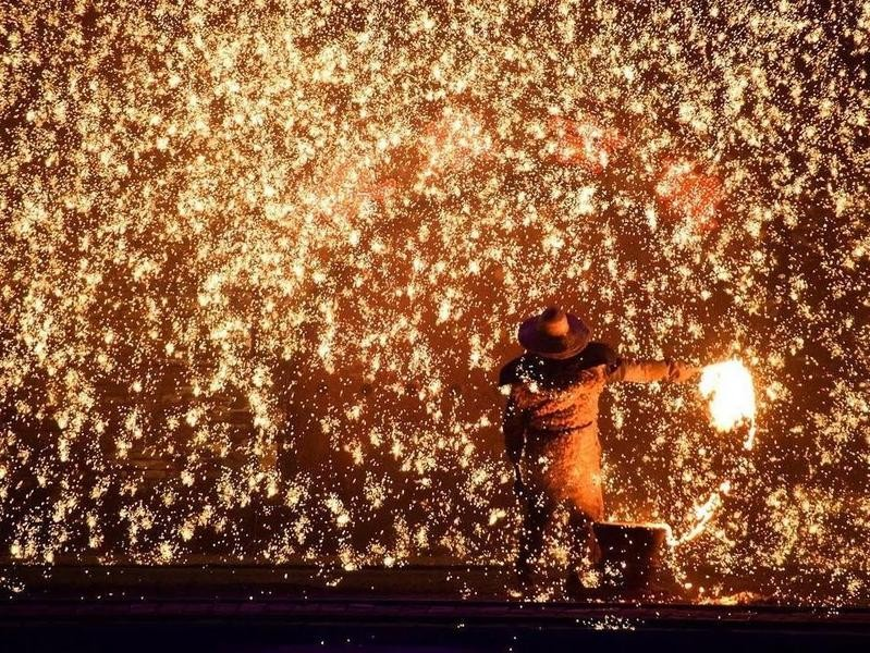 Molten Iron Throwing, Nanquan, China
