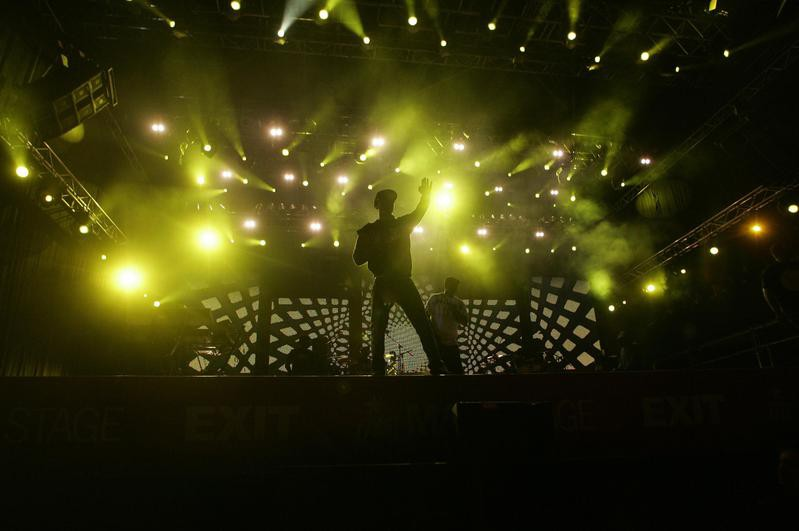 N.E.R.D. band perform during Exit music festival