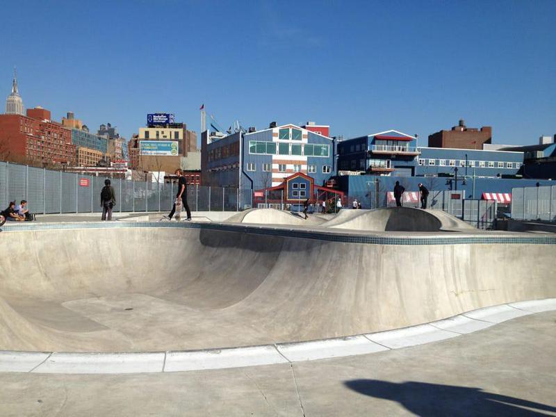 Pier 62 Skatepark in New York, New York