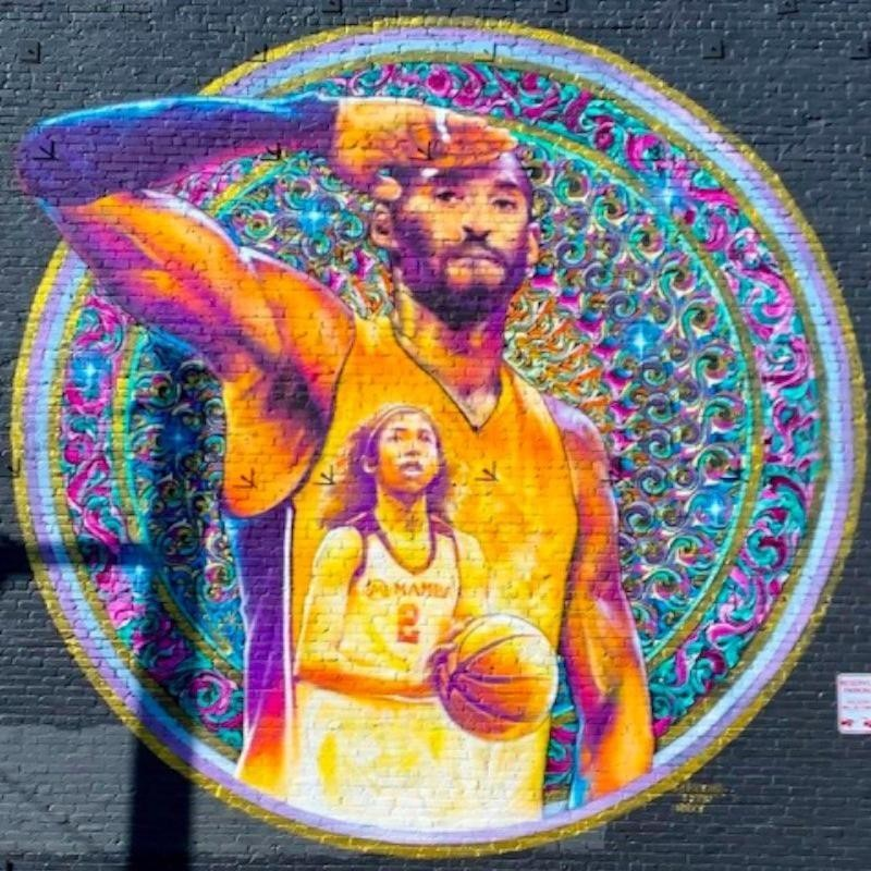 Kobe Bryant and Gianna Bryant mural in Downtown Los Angeles
