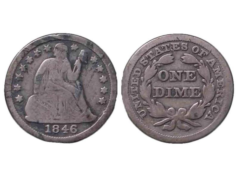 1846 Seated Liberty Dime