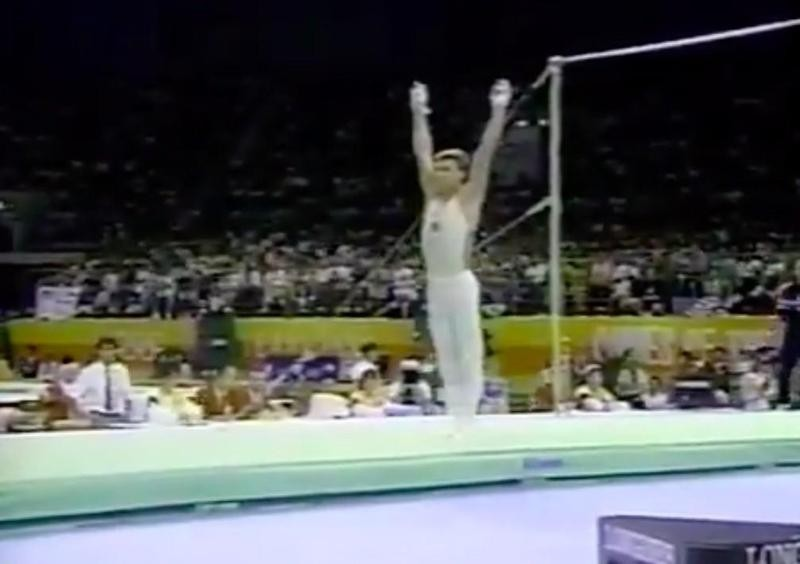 Valeri Liukin competes in 1988 Seoul Olympics