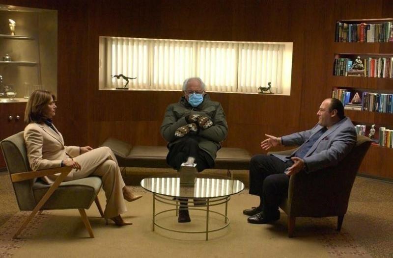 Bernie Sanders with Tony Soprano