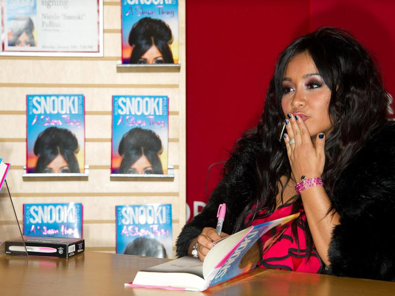 """Nicole """"Snooki"""" Polizzi of """"Jersey Shore"""" attends a signing for her book """"A Shore Thing"""" in 2011."""