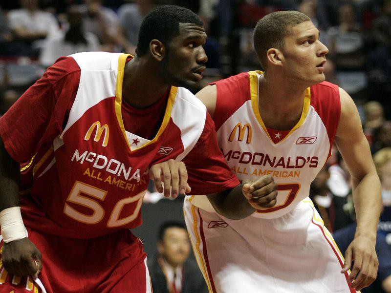 Greg Oden and Brook Lopez
