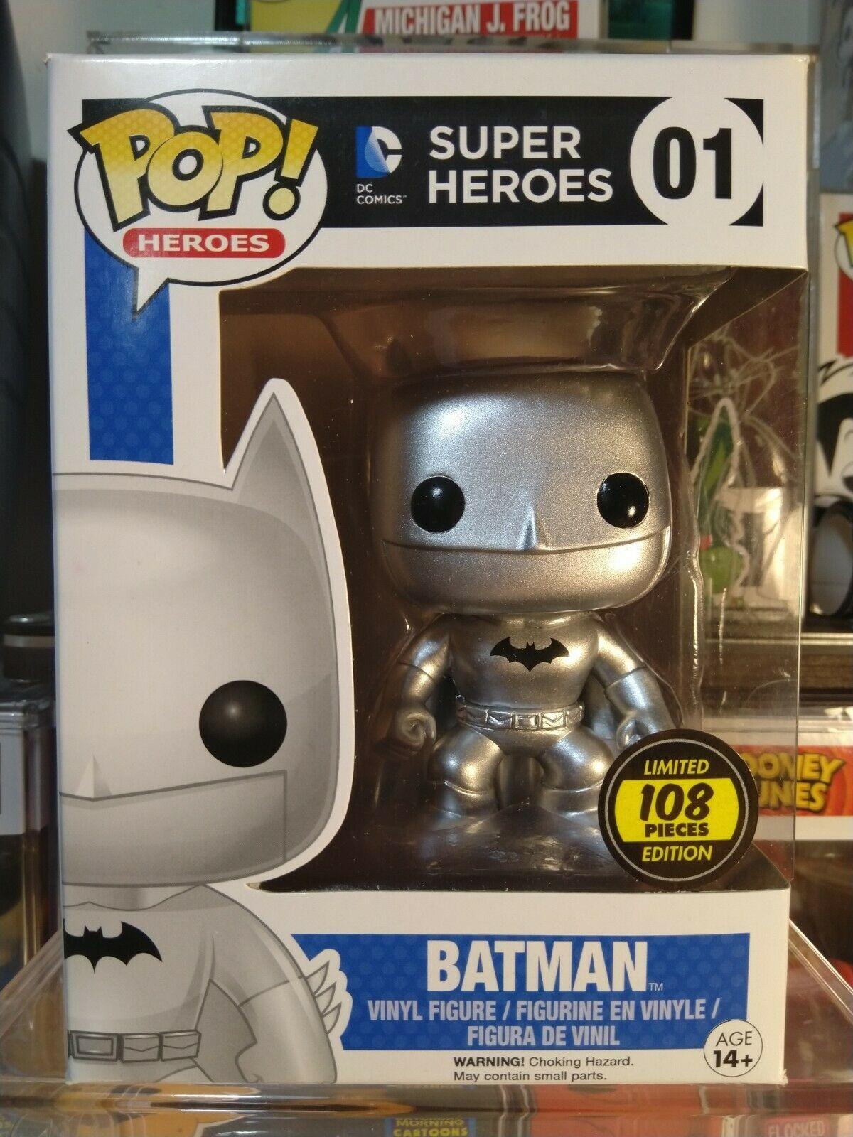 Funko silver/chrome Batman hot topic exclusive