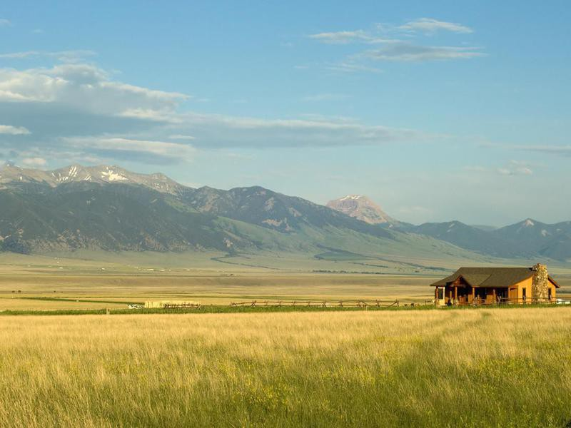 Ranch house in Montana