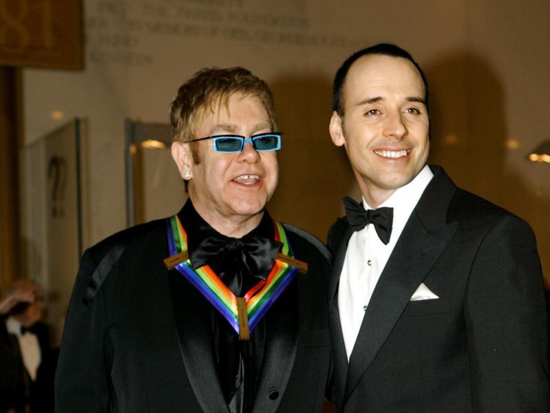 Elton John and his husband David Furnish