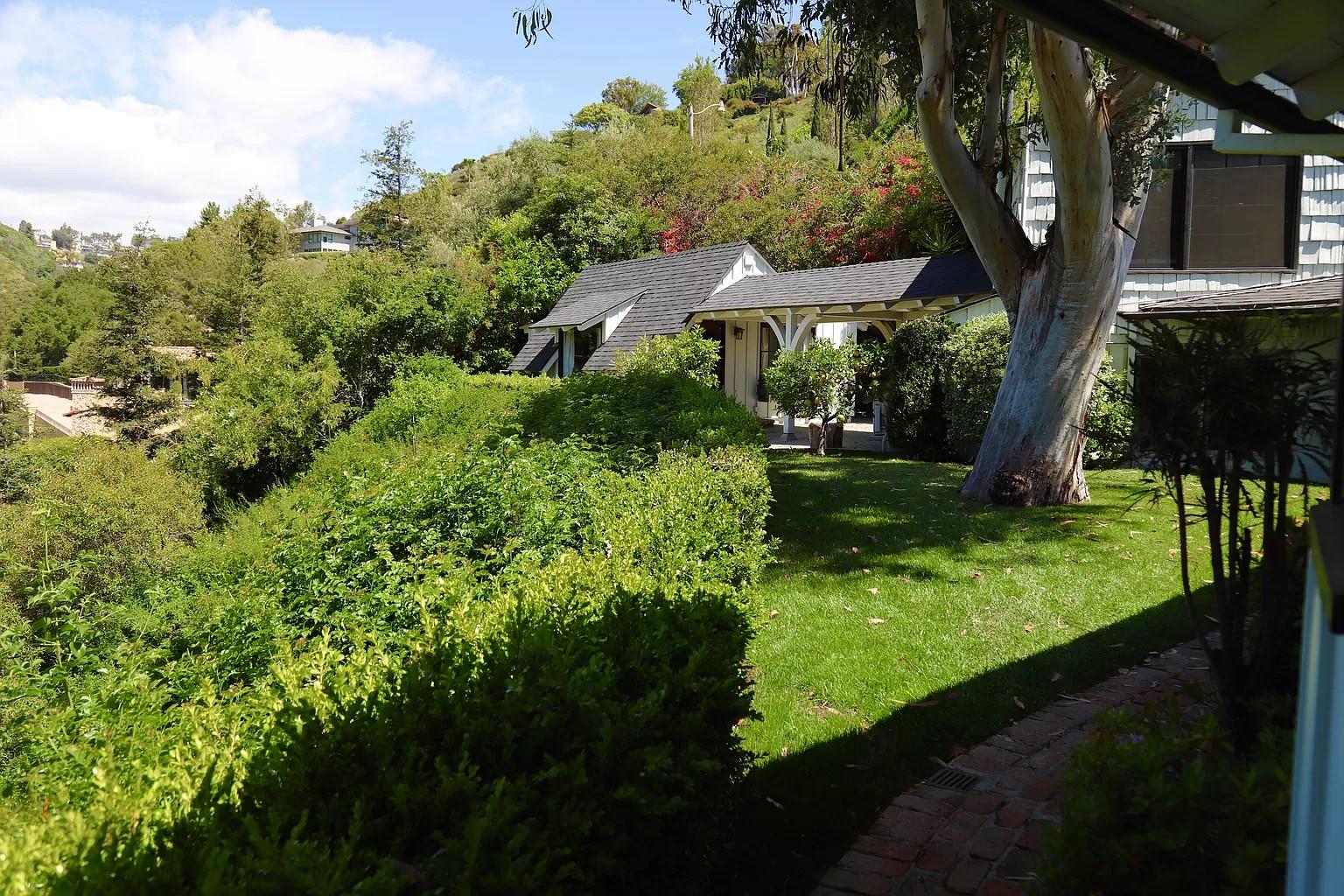 Backyard of Gene Wilder's former home