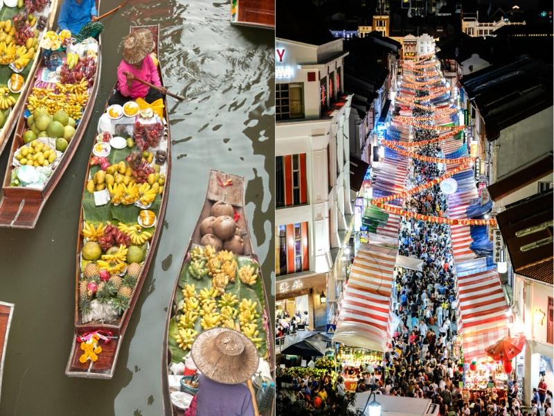 Bangkok and Singapore