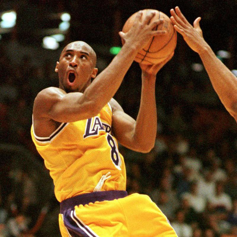 Kobe Bryant goes in for layup