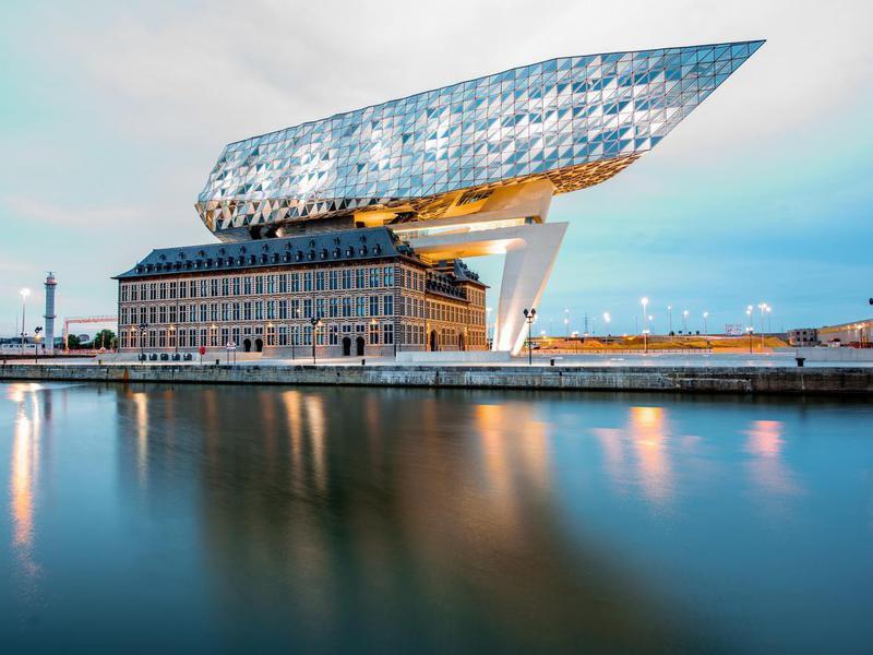 Port house in Antwerp, Belgium