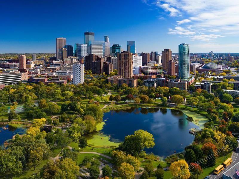 Minneapolis skyline, Minnesota