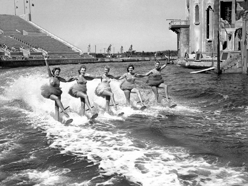 Water skiers at Jones Beach