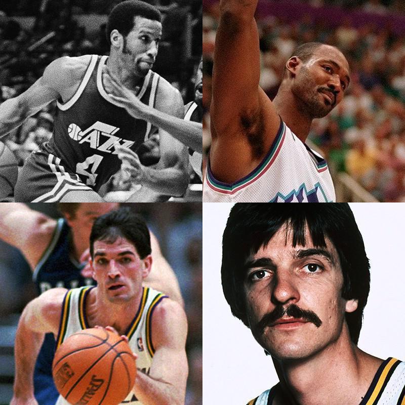 Adrian Dantley, Karl Malone, Pete Maravich, John Stockton