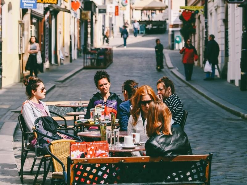 Cafe in Zagreb, Croatia