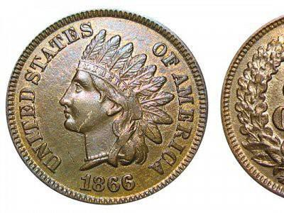 1866 Indian Head Cent is a valuable penny